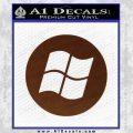 Windows Circle Decal Sticker BROWN Vinyl 120x120