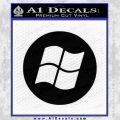 Windows Circle Decal Sticker Black Vinyl 120x120