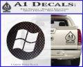 Windows Circle Decal Sticker Carbon FIber Black Vinyl 120x97