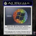 Windows Circle Decal Sticker Glitter Sparkle 120x120