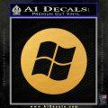 Windows Circle Decal Sticker Gold Vinyl 120x120