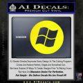 Windows Circle Decal Sticker Yellow Laptop 120x120