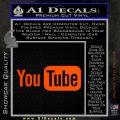 YouTube Logo Decal Sticker Orange Emblem 120x120