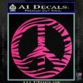 Zebra Peace Sign Decal Sticker Pink Hot Vinyl 120x120
