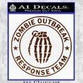 Zombie Outbreak Response Team D2 Decal Sticker BROWN Vinyl 120x120