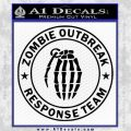 Zombie Outbreak Response Team D2 Decal Sticker Black Vinyl 120x120