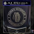Zombie Outbreak Response Team D2 Decal Sticker Carbon FIber Chrome Vinyl 120x120
