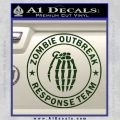 Zombie Outbreak Response Team D2 Decal Sticker Dark Green Vinyl 120x120