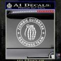Zombie Outbreak Response Team D2 Decal Sticker Gloss White Vinyl 120x120