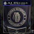 Zombie Outbreak Response Team D2 Decal Sticker Metallic Silver Emblem 120x120
