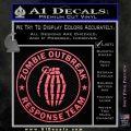 Zombie Outbreak Response Team D2 Decal Sticker Pink Emblem 120x120