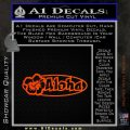 Aloha Hibiscus Decal Sticker Orange Emblem 120x120