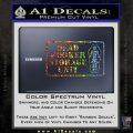 Dead Hooker Storage Unit Decal Sticker Glitter Sparkle 120x120