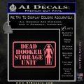 Dead Hooker Storage Unit Decal Sticker Pink Emblem 120x120
