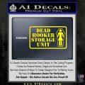 Dead Hooker Storage Unit Decal Sticker Yellow Laptop 120x120