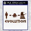 Doctor Who Dalek Evolution Decal Sticker BROWN Vinyl 120x120