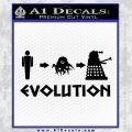 Doctor Who Dalek Evolution Decal Sticker Black Vinyl 120x120