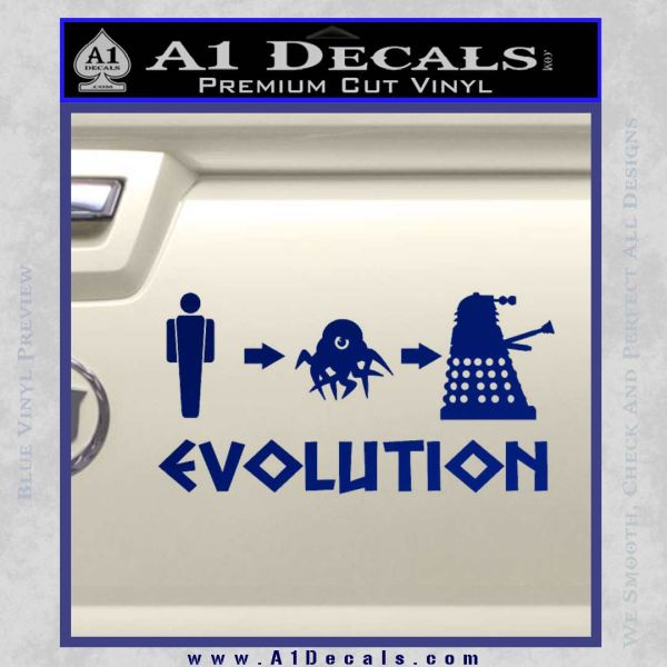 Doctor Who Dalek Evolution Decal Sticker Blue Vinyl