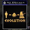 Doctor Who Dalek Evolution Decal Sticker Gold Vinyl 120x120