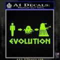 Doctor Who Dalek Evolution Decal Sticker Lime Green Vinyl 120x120