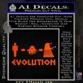 Doctor Who Dalek Evolution Decal Sticker Orange Emblem 120x120