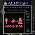 Doctor Who Dalek Evolution Decal Sticker Pink Emblem 120x120