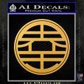 Dragon Ball King Kai Symbol Decal Sticker Gold Vinyl 120x120