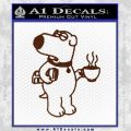 Family Guy Brian Decal Sticker Coffee BROWN Vinyl 120x120
