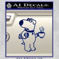 Family Guy Brian Decal Sticker Coffee Blue Vinyl 120x120