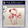 Family Guy Brian Decal Sticker Coffee Red 120x120