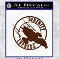Firefly Serenity Express Futurama D1 Decal Sticker BROWN Vinyl 120x120