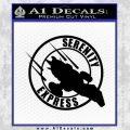 Firefly Serenity Express Futurama D1 Decal Sticker Black Vinyl 120x120
