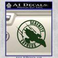Firefly Serenity Express Futurama D1 Decal Sticker Dark Green Vinyl 120x120