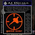 Game Over Bird Hunting Decal Sticker Orange Emblem 120x120