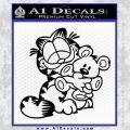 Garfield w Pookie Decal Sticker Black Vinyl 120x120