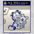 Garfield w Pookie Decal Sticker Blue Vinyl 120x120