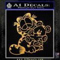 Garfield w Pookie Decal Sticker Gold Vinyl 120x120
