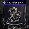 Garfield w Pookie Decal Sticker Metallic Silver Emblem 120x120