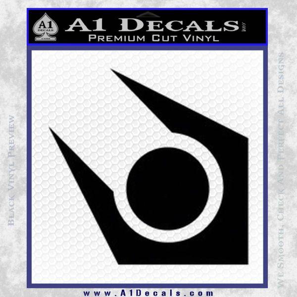 Half Life Combine Decal Sticker Black Vinyl