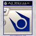 Half Life Combine Decal Sticker Blue Vinyl 120x120