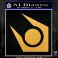 Half Life Combine Decal Sticker Gold Vinyl 120x120
