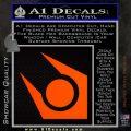 Half Life Combine Decal Sticker Orange Emblem 120x120