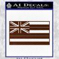 Hawaii State Flag Decal Sticker BROWN Vinyl 120x120