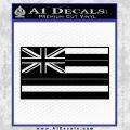 Hawaii State Flag Decal Sticker Black Vinyl 120x120
