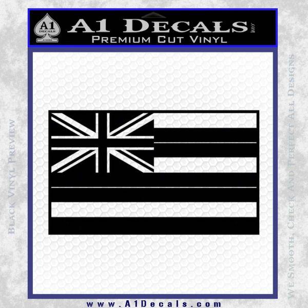 Hawaii State Flag Decal Sticker Black Vinyl