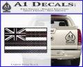 Hawaii State Flag Decal Sticker Carbon FIber Black Vinyl 120x97