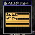 Hawaii State Flag Decal Sticker Gold Vinyl 120x120