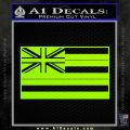 Hawaii State Flag Decal Sticker Lime Green Vinyl 120x120
