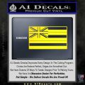 Hawaii State Flag Decal Sticker Yellow Laptop 120x120