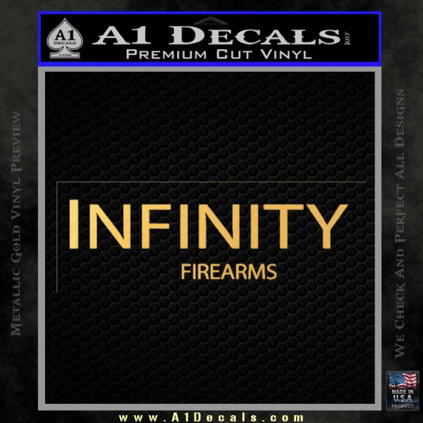 Infinity Firearms Decal Sticker Gold Vinyl